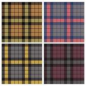 tartan fabric seamless pattern, vector, set