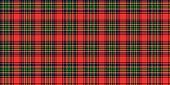 Tartan Scottish Seamless pattern illustration
