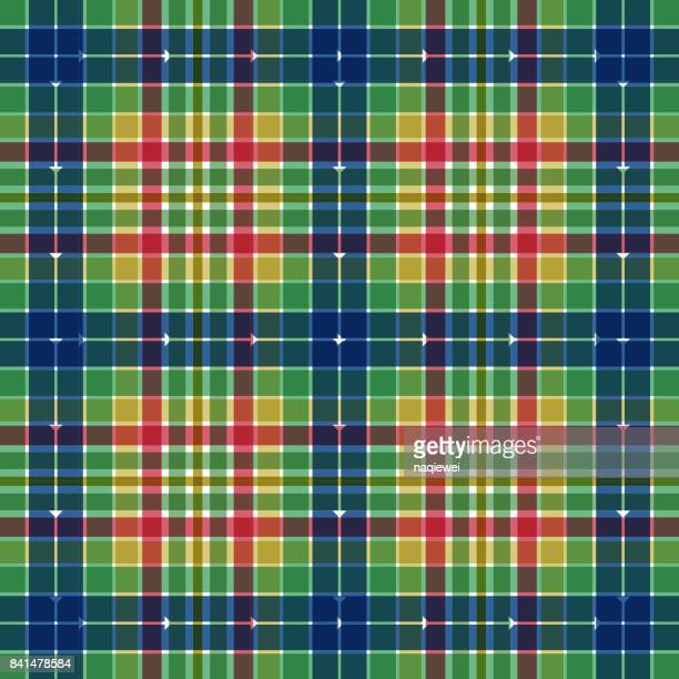 tartan seamless pattern - erection stock illustrations, clip art, cartoons, & icons