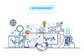 Task management, multitask. Time management
