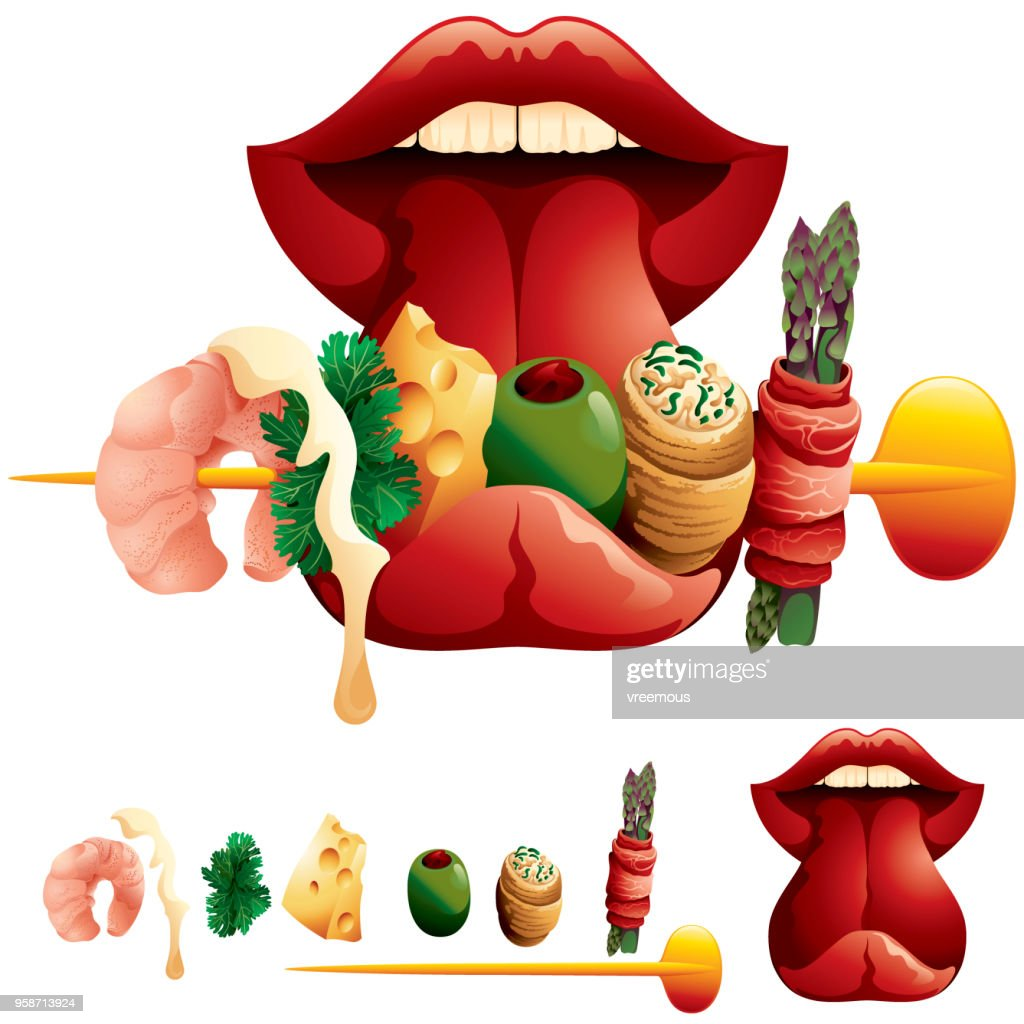 Tasting Delicious Food : stock illustration