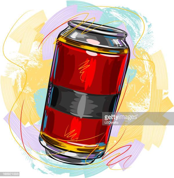 tasty beer - drink can stock illustrations, clip art, cartoons, & icons