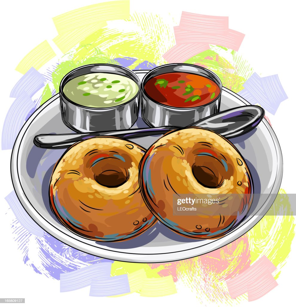 Tasty indian cuisinevada vector art getty images for Art of indian cuisine
