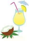 Tasty Pina Colada Cocktail