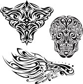 Tattoo face tribe