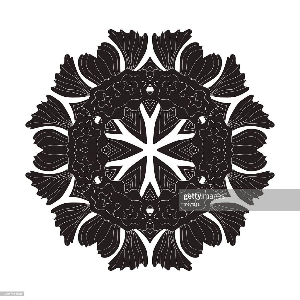 Tattoo Flower Mandala Doodle Vector Designs