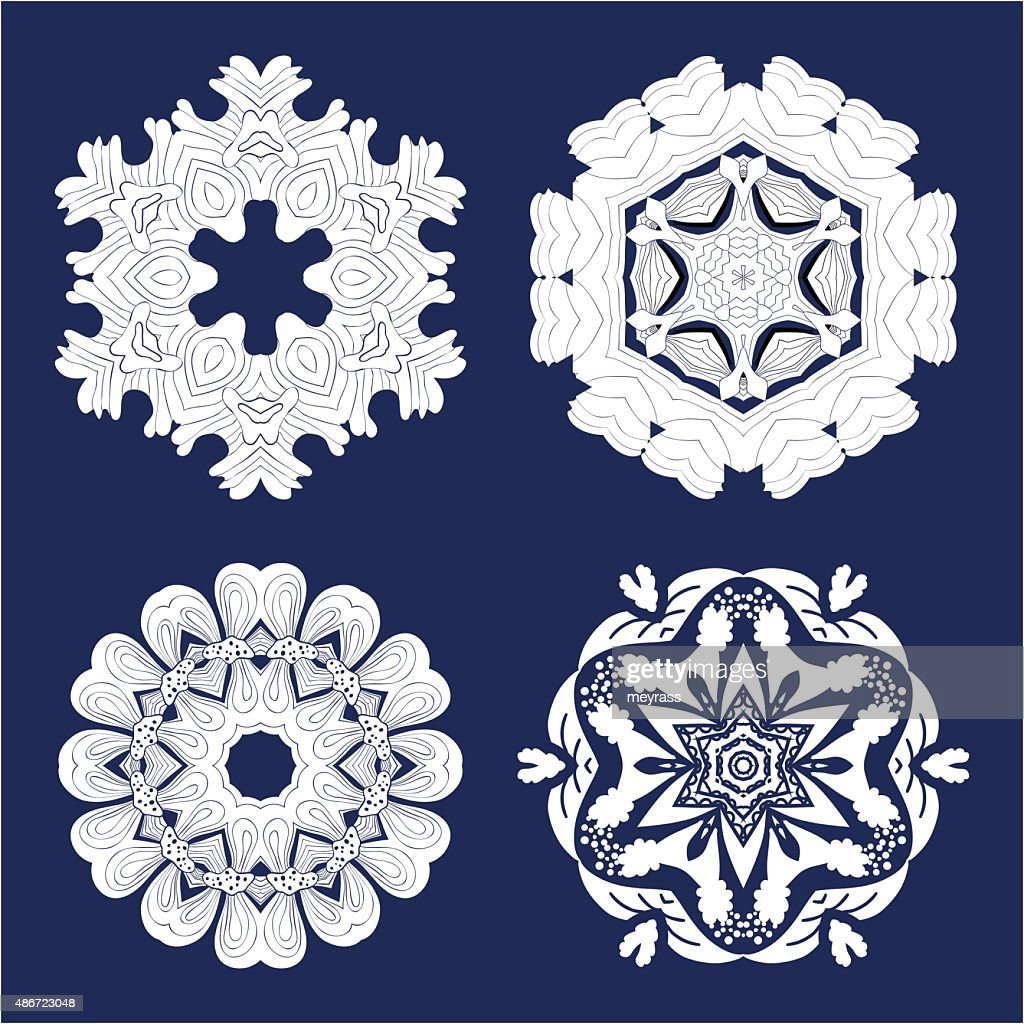 Tattoo Flower Mandala Doodle Vector Designs