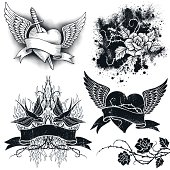 Tattoo Grunge Elements