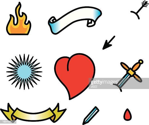 Tatuaje corazón de
