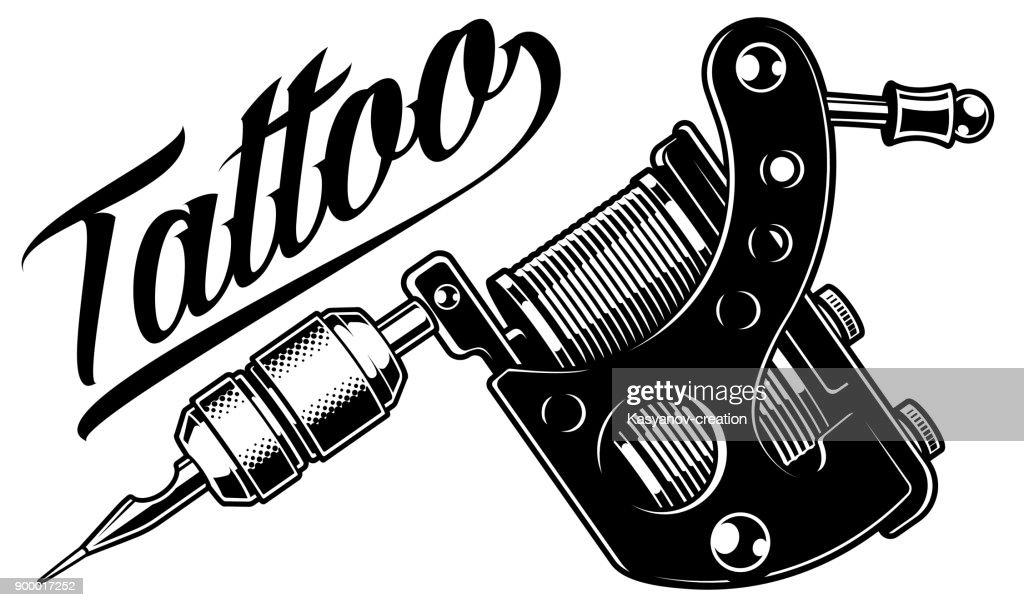 Tattoo machine (monochrome)
