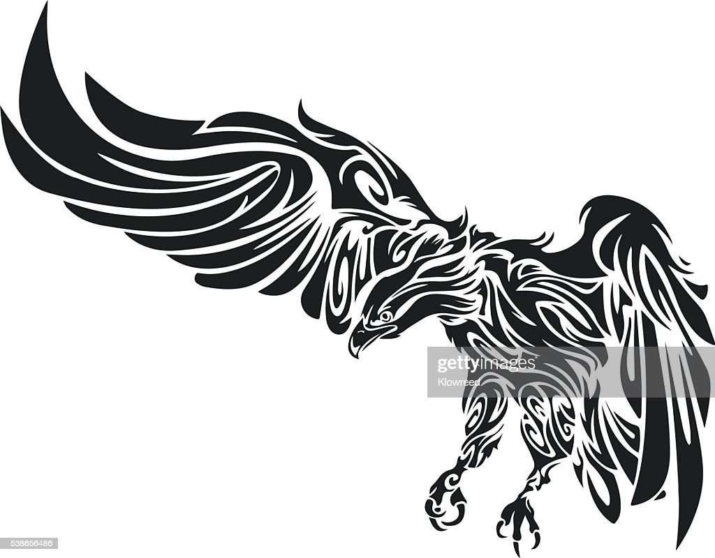 Tattoo of an eagle. Men's tattoo. Women's tattoo.