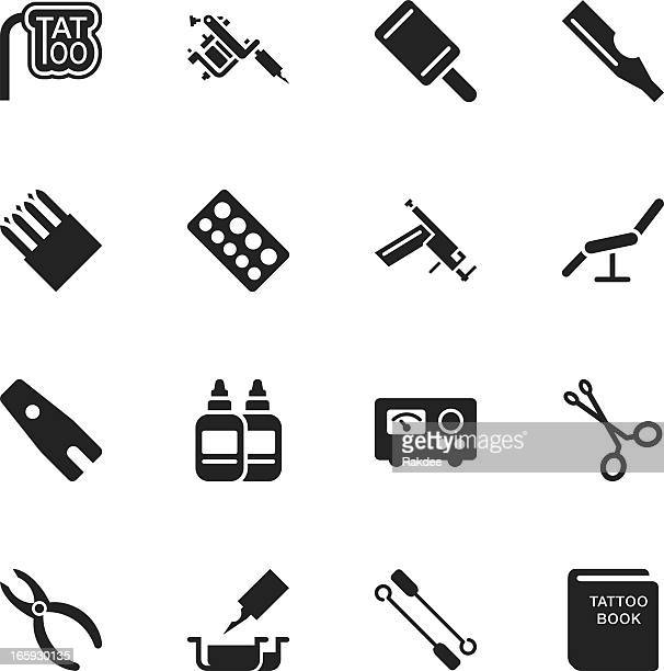 Tattoo Silueta iconos de tienda