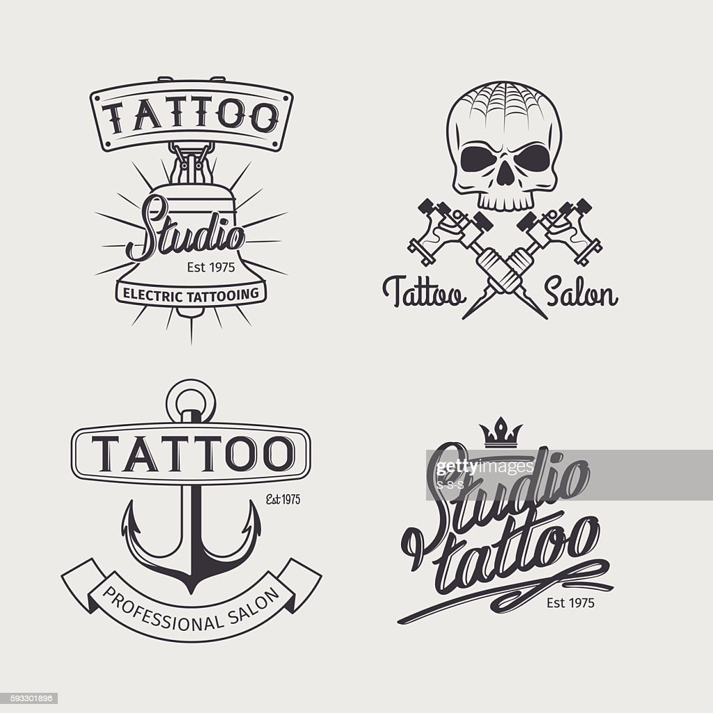 Tattoo studio logo templates