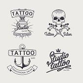 Tattoo studio logo templates