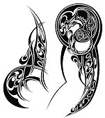 Tattoo with abstract style design.