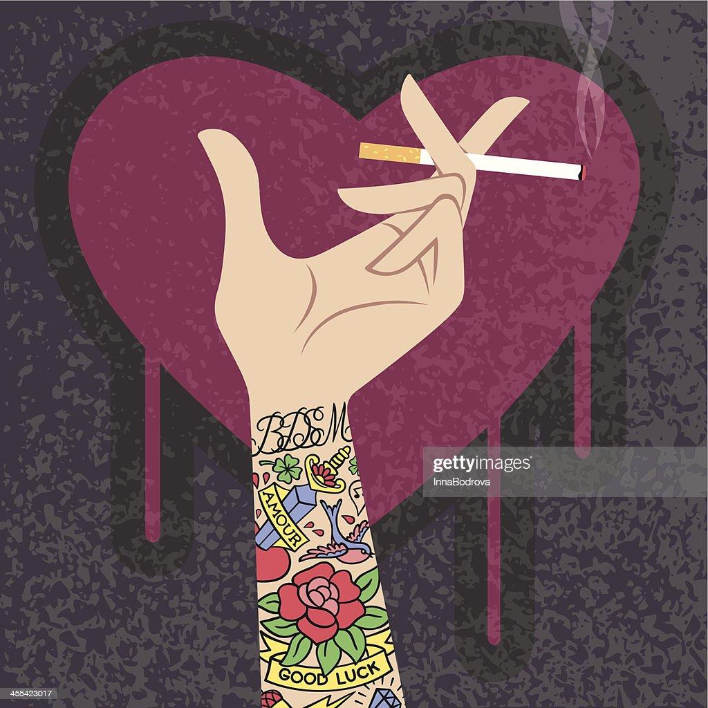 Tattooed Hand.