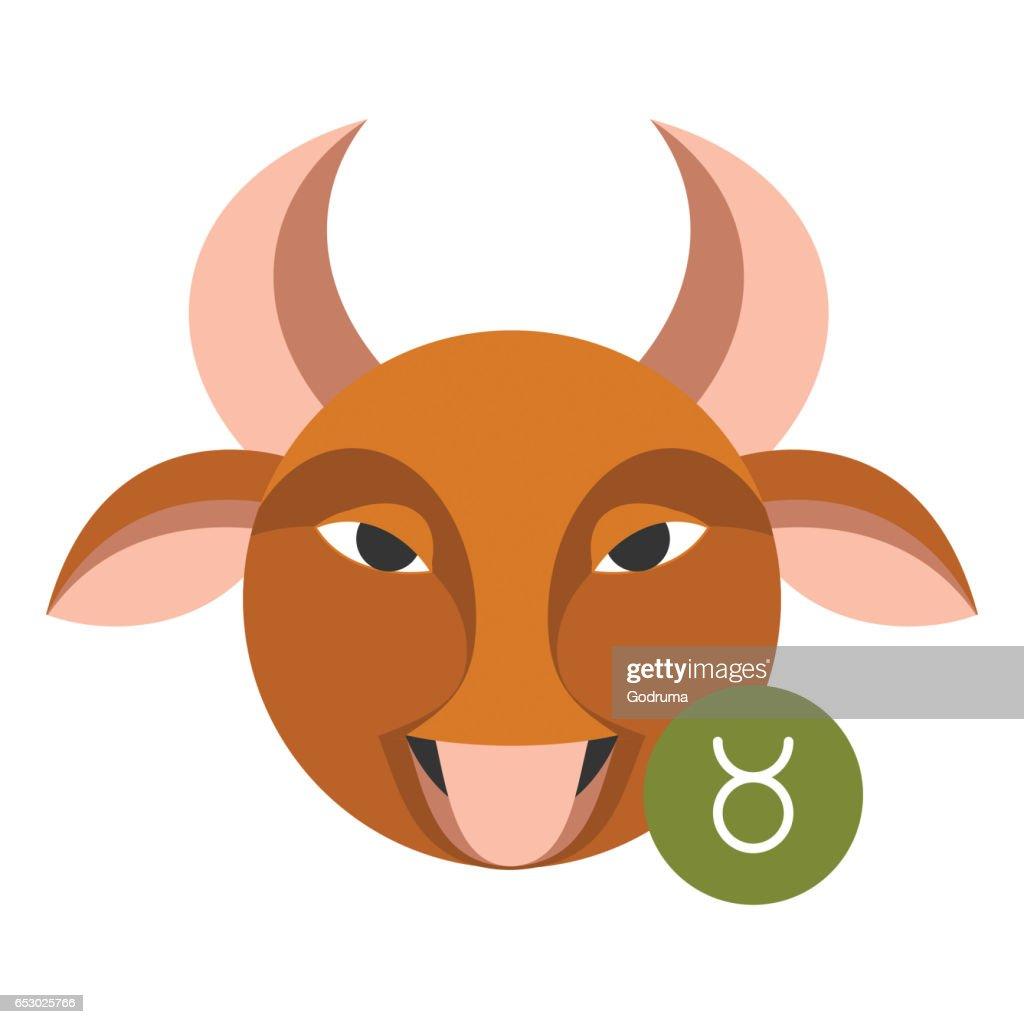 Taurus Astrology Sign Isolated On White Horoscope Zodiac Symbol