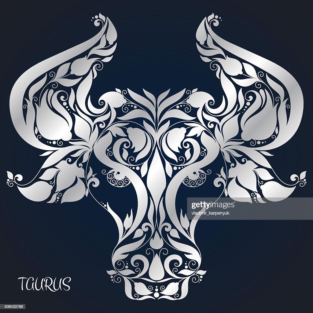 Taurus. Astrology Zodiac sign. Hand drawn style.