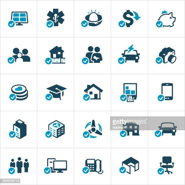 Tax Credits and Deductions Icons