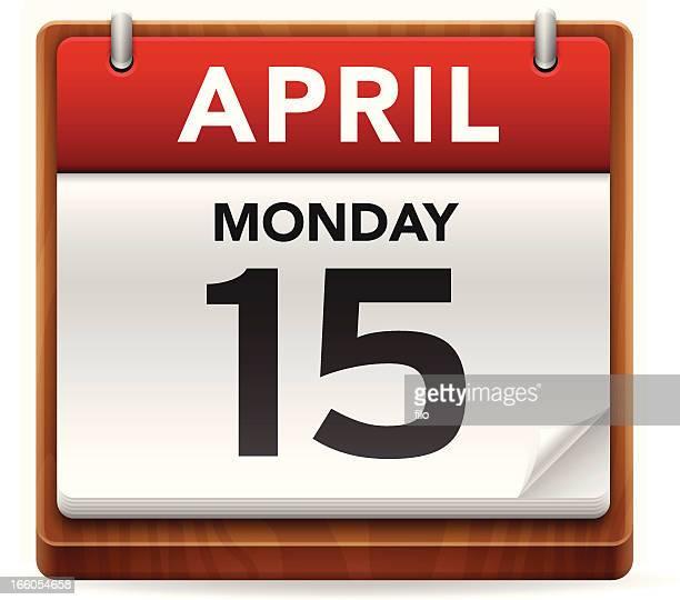 ilustraciones, imágenes clip art, dibujos animados e iconos de stock de impuestos día calendario - impuestosobrelarenta