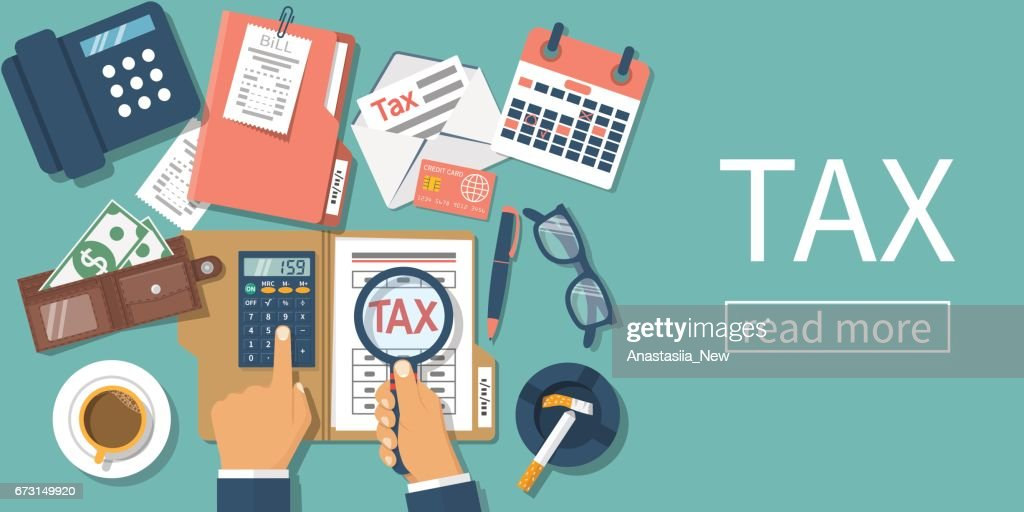 Tax payment. vector