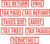 Tax return - rubber stamps