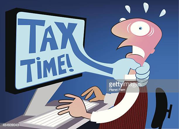 tax time! - filing documents stock illustrations, clip art, cartoons, & icons