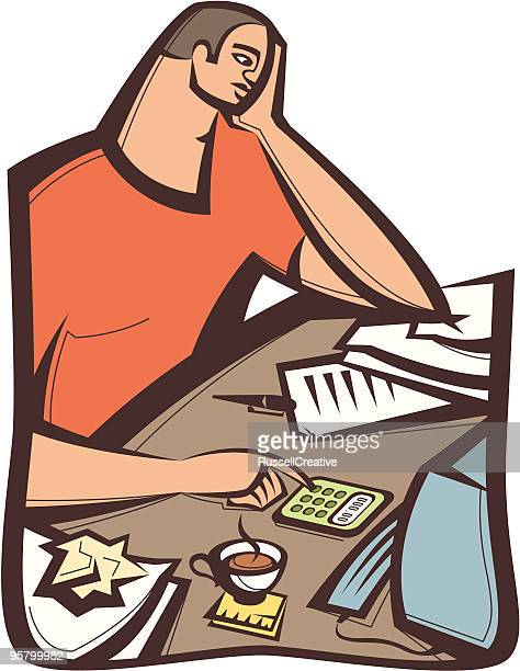tax time - paycheck stock illustrations, clip art, cartoons, & icons