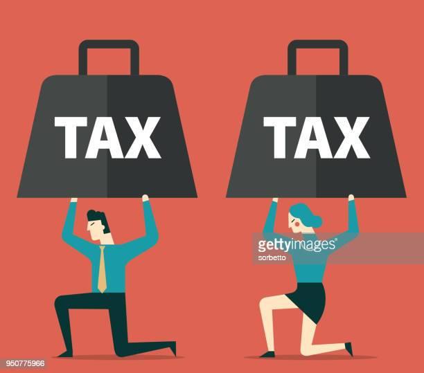 tax - subprime loan crisis stock illustrations