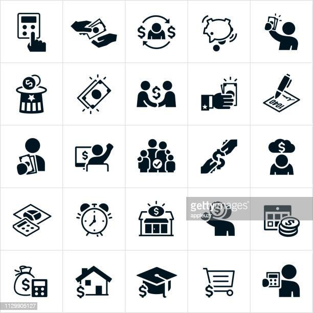 taxes icons - accountancy stock illustrations