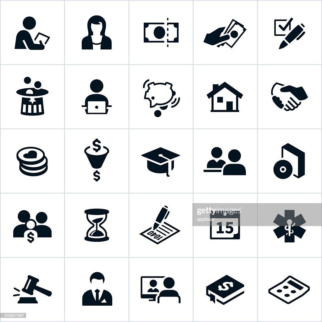 Taxes Icons : stock illustration