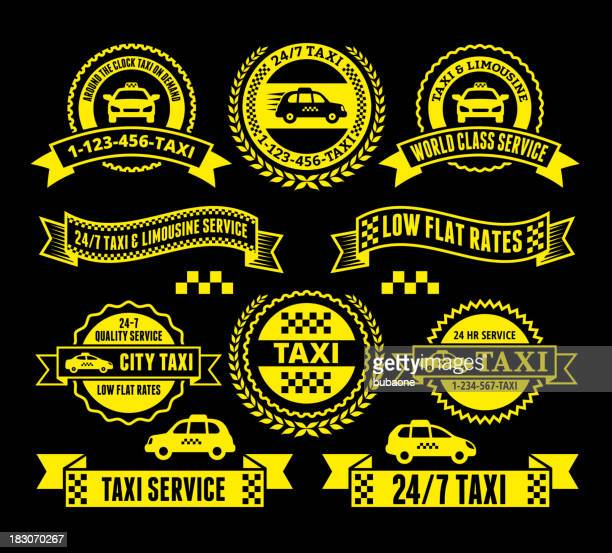 Taxi and Limousine Services Badge Set