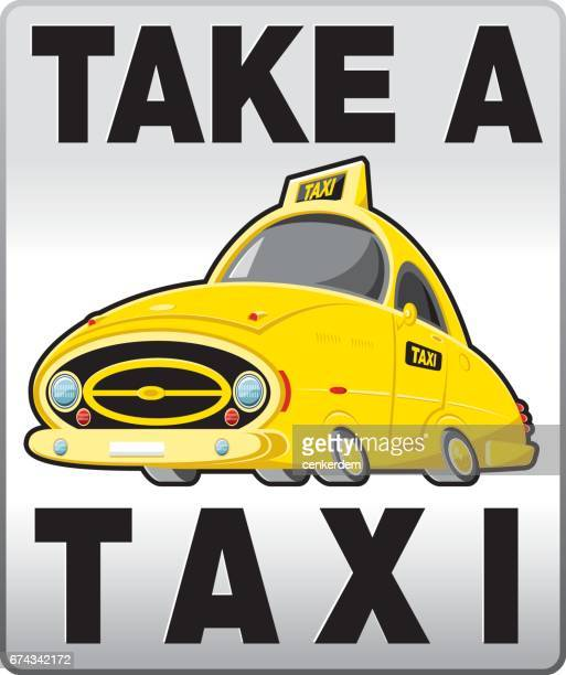 taxi banner - yellow taxi stock illustrations, clip art, cartoons, & icons