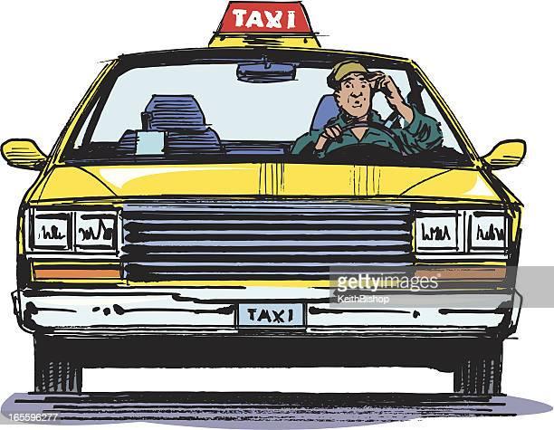 ilustraciones, imágenes clip art, dibujos animados e iconos de stock de taxi y destornillador - taxista
