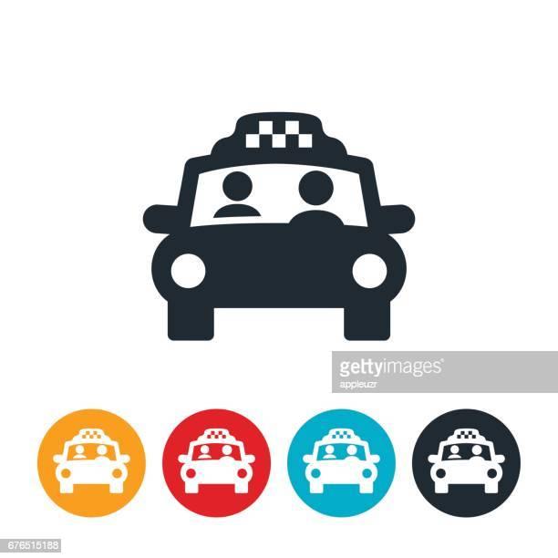 ilustraciones, imágenes clip art, dibujos animados e iconos de stock de taxi cab icono - taxista