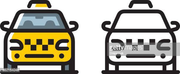 taxi cab icon - taxi stock illustrations, clip art, cartoons, & icons
