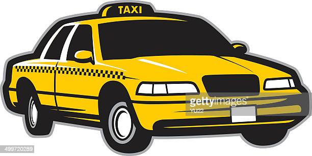 taxi cab - taxi stock illustrations, clip art, cartoons, & icons