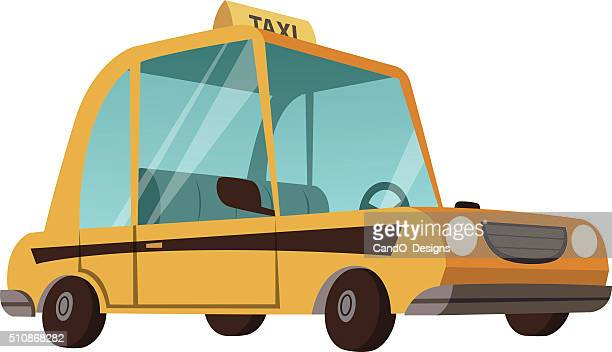 taxi cartoon - taxi stock illustrations, clip art, cartoons, & icons
