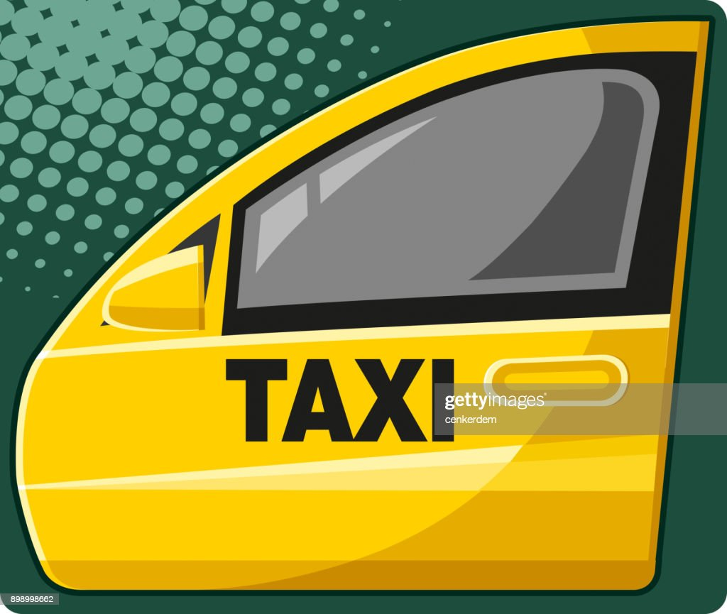 Taxi door (vector)  sc 1 st  Getty Images & Yellow Taxi Stock Illustrations And Cartoons | Getty Images