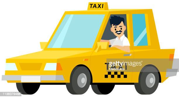 taxi driver - taxi stock illustrations