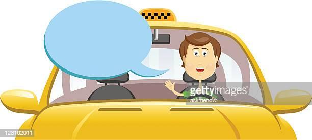 ilustraciones, imágenes clip art, dibujos animados e iconos de stock de taxista - taxista