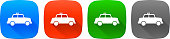 taxi icon four color vector buttons