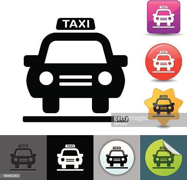 taxi icon | solicosi series - taxi stock illustrations, clip art, cartoons, & icons