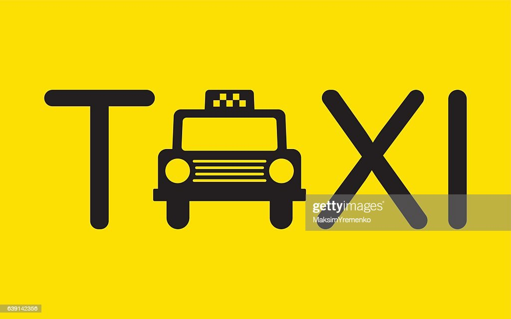 Taxi Icon Symbol Vector Illustration