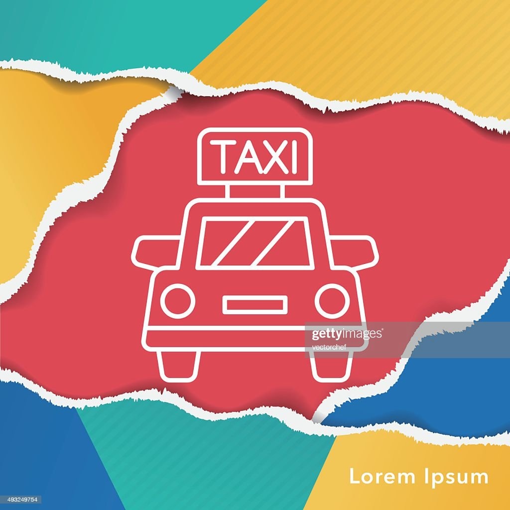 taxi line icon