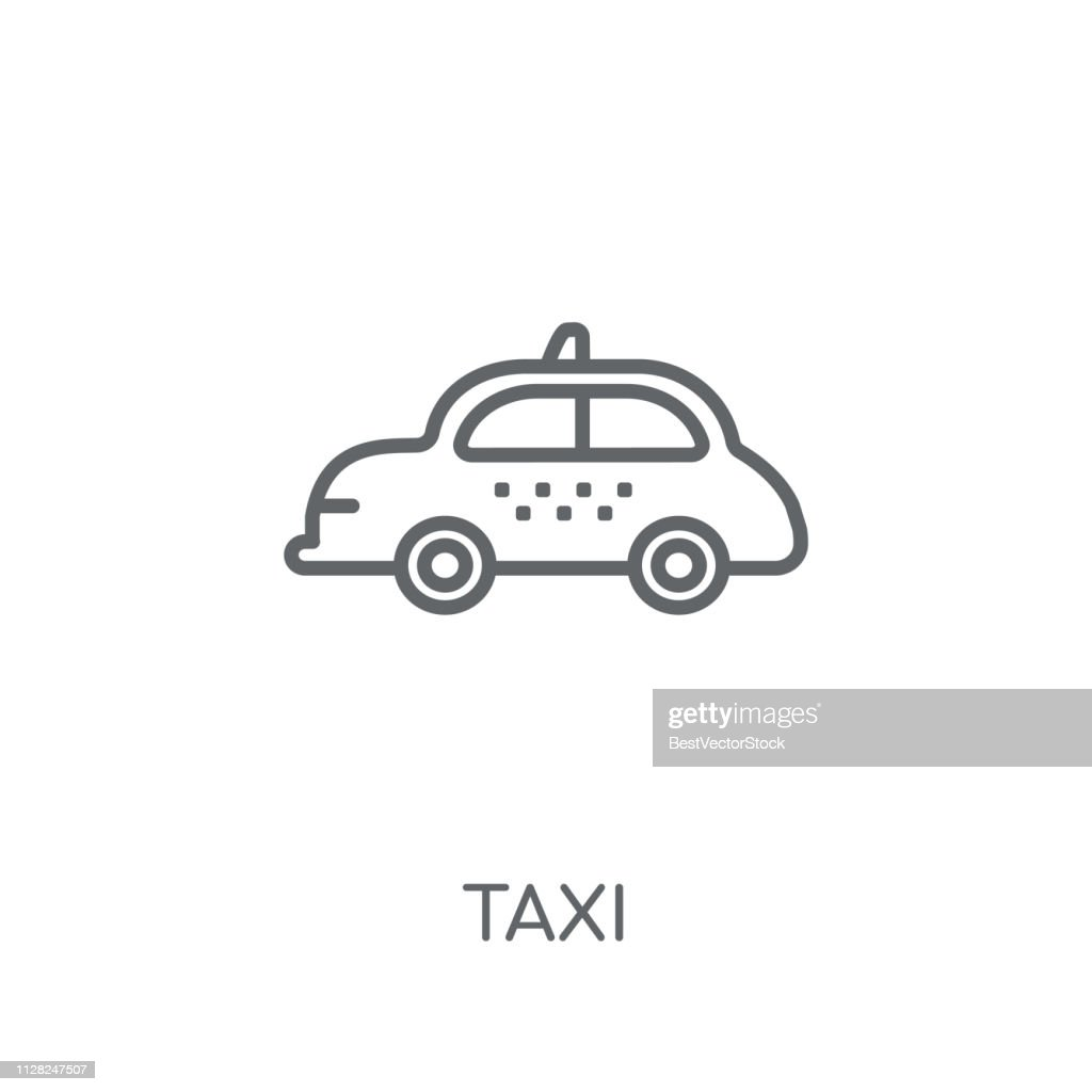 Taxi linear icon. Modern outline Taxi logo concept on white background from Transportation collection