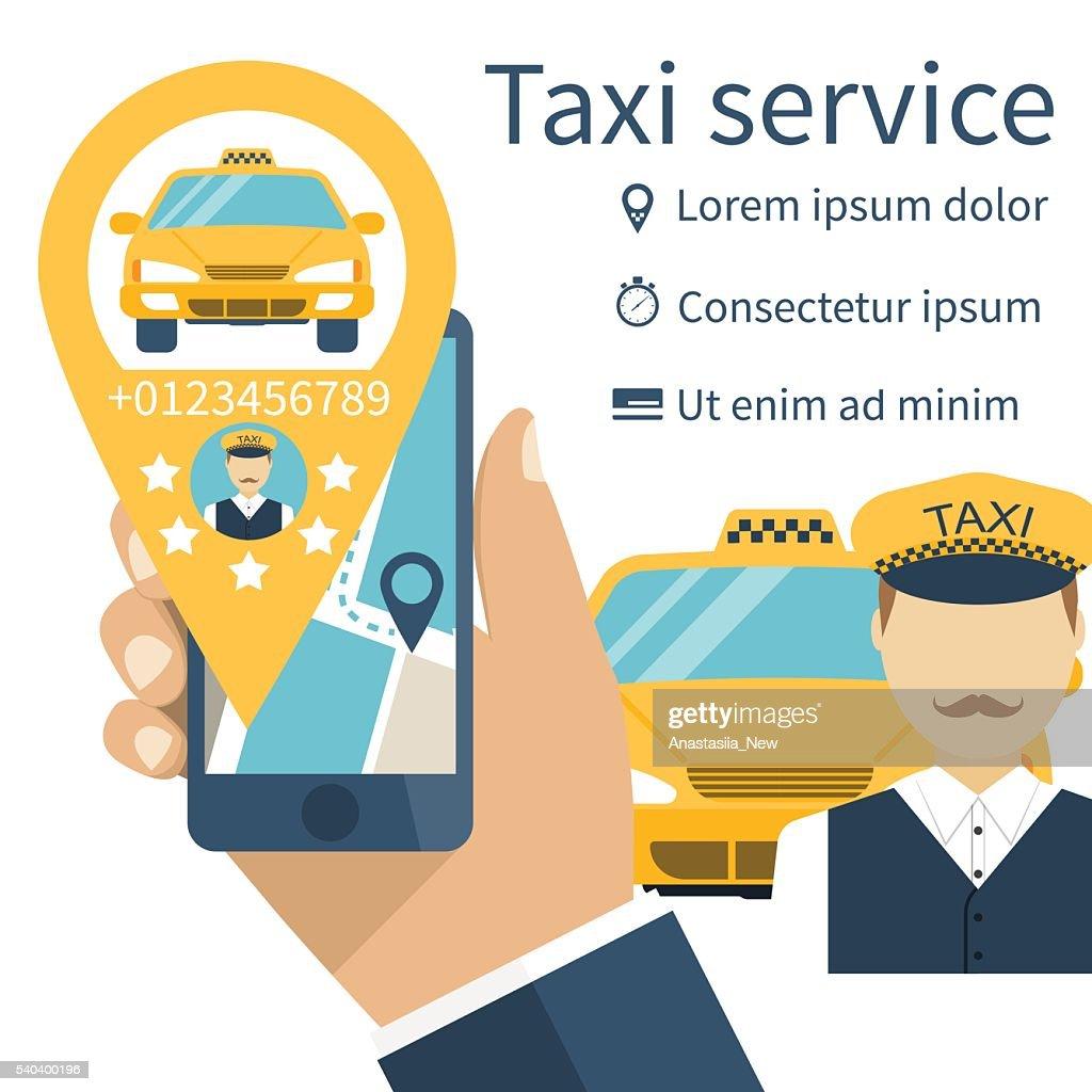 Taxi service.