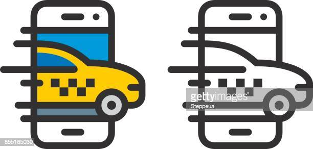 taxi service - taxi stock illustrations, clip art, cartoons, & icons