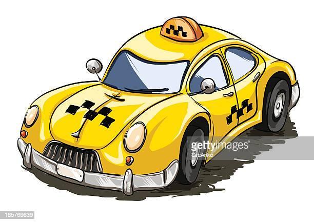 taxi - sedan stock illustrations, clip art, cartoons, & icons