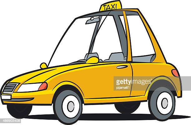 taxi - yellow taxi stock illustrations, clip art, cartoons, & icons